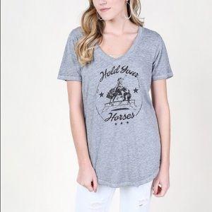 Hold Your Horses Altar'd State V-Neck T-Shirt